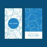 Vector abstract blauw cirkels verticaal rond kader Stock Foto