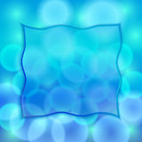 Vector abstract blue background with bokeh effect Stock Photography