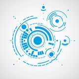 Vector abstract blue background created in Bauhaus retro style. Royalty Free Stock Photography