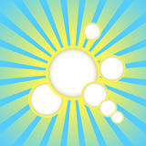 Vector sun rays background. Vector abstract blue background with sun rays and place for text Royalty Free Stock Photo