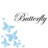 Vector Abstract Blue Butterflies Background Royalty Free Stock Photography
