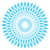 Vector abstract blue circle flower Stock Photo