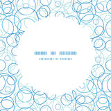 Vector abstract blue circles circle frame seamless. Pattern background graphic design Royalty Free Stock Photo