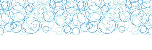 Vector abstract blue circles horizontal border Stock Photography