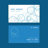 Vector abstract blue circles horizontal corner Royalty Free Stock Image