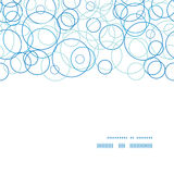 Vector abstract blue circles horizontal frame Stock Photo