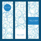 Vector abstract blue circles vertical banners set Stock Photography