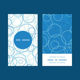 Vector abstract blue circles vertical round frame Stock Photo