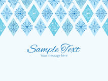 Vector abstract blue doodle rhombus horizontal Stock Photography