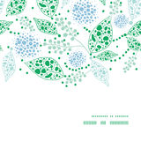 Vector abstract blue and green leaves horizontal Royalty Free Stock Images
