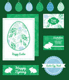 Vector abstract blue and green leaves set of Royalty Free Stock Photography