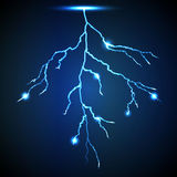 Vector abstract blue lightning flash background. 1 Royalty Free Stock Images