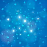 Vector abstract blue night sky stars background. Abstract blue background night sky with stars.  Vector illustration. Layered Royalty Free Stock Photos