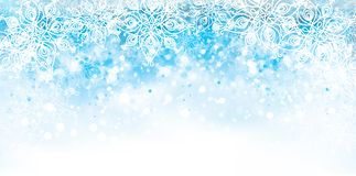 Free Vector Abstract, Blue, Snowflake Background. Stock Photos - 130357763