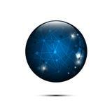 Vector abstract blue sphere polygonal design hi tech concept Royalty Free Stock Image