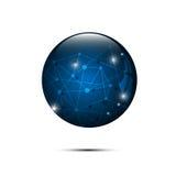 Vector abstract blue sphere polygonal design hi tech concept Stock Photography