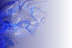 Vector abstract blue to white color shaded wavy background, wallpaper. Vector abstract blue to white color shaded stream wavy background, wallpaper for many uses Stock Photos