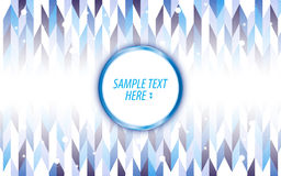 Vector abstract blue triangle pattern digital design background Stock Photo