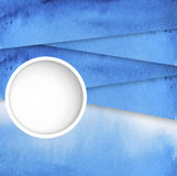 Vector abstract blue watercolor background Royalty Free Stock Image