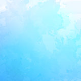 Vector abstract blue watercolor background Stock Photography