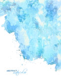 Vector abstract blue watercolor background Stock Image