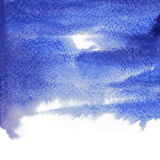 Vector abstract blue watercolor background for your design Stock Photography