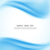 Vector abstract blue waves background Royalty Free Stock Images