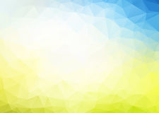 Vector abstract blue yellow background Stock Image