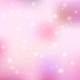 Vector abstract bokeh background. Vector abstract pink bokeh background. Festive defocused lights Stock Photography