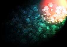 Vector abstract bokeh background. Festive defocused lights Royalty Free Stock Photography