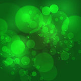 Vector abstract bokeh blur background, defocused light green col. Or illustration for St.Patrick's day. EPS10 Royalty Free Stock Photography