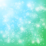 Vector abstract bokeh blur background. Festive defocused lights. Stock Photo