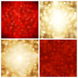 Vector abstract bokeh christmas lights Royalty Free Stock Photos