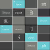 Vector abstract box template. Rectangles with place for your con Royalty Free Stock Images