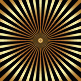 Vector abstract bright background with golden rays Stock Image