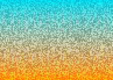 Vector abstract bright mosaic gradient orange blue background Stock Photography