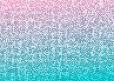 Vector abstract bright mosaic gradient pink blue background Stock Photos