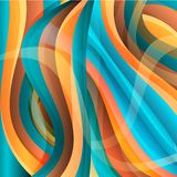 Vector abstract bright waved background, texture design. Vector abstract waves background texture design, bright poster, banner colorful striped background vector illustration