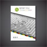 Vector abstract brochure, rapport of vliegerontwerpmalplaatje Royalty-vrije Stock Afbeeldingen
