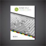 Vector abstract brochure, report or flyer design template Royalty Free Stock Images