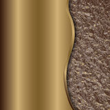 Vector abstract bronze background with curve and foil Royalty Free Stock Photos