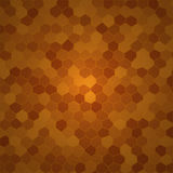Brown cellular background. Vector abstract brown cellular background Royalty Free Stock Photography