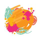 Vector Abstract brush background vector illustration