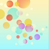 Vector abstract bubble circles colorful background Stock Photography