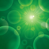 Vector abstract bubble green Stock Images