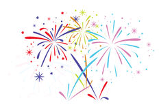 Free Vector Abstract Bursting Fireworks Stock Images - 38043924