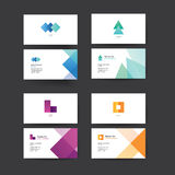 Vector abstract business cards. Stock Images