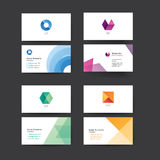 Vector abstract business cards. Stock Photography