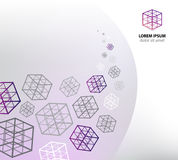 Vector abstract business cube concept Royalty Free Stock Photography