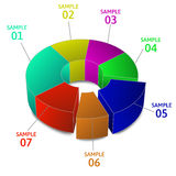 Vector of abstract business pie chart and info-graphic. Colorful Business Pie Chart for Your Documents, Reports and Presentations Stock Photography